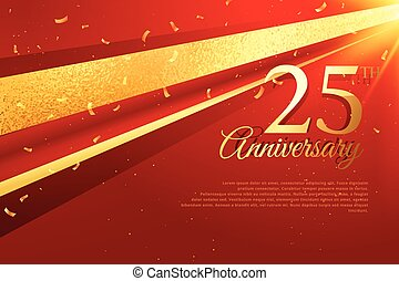 25th anniversary celebration card template - 25th...
