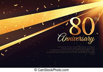 80th anniversary celebration card template