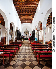 Interior Old Cathedral - An old stone cathedral on the...