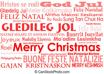 Merry Christmas - A merry christmas tag cloud with many...