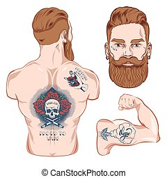 Tattooed Vector Character Images