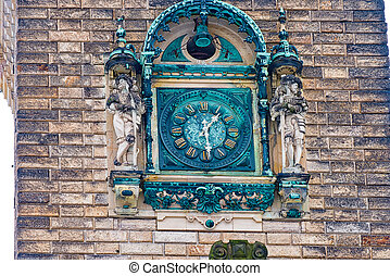 Clock tower at the hunting lodge of Hummelshain - The clock...