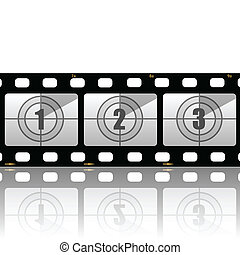 Film strips - Illustration of the film strip on a white...