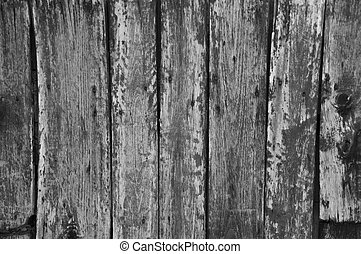 Vertical weathered painted wooden boards background b/w -...