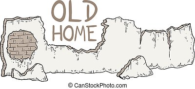 old home wall illustration
