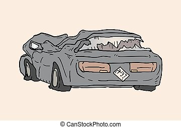 Broken car Illustrations and Stock Art. 1,507 Broken car ...