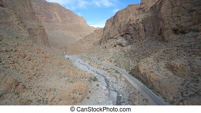 Aerial, Gorges Du Todra, Todra Gorge, Morocco. Ungraded...