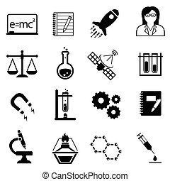 Science, innovation and discovery icons - Science,...