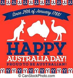 Retro sash Australia Day card in vector format.