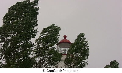 Point Clark and Lake Huron. - Point Clark Lighting House and...