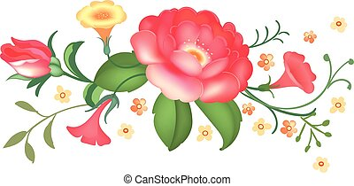 Flower arrangement. Vector illustration