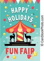Carousel fun fair