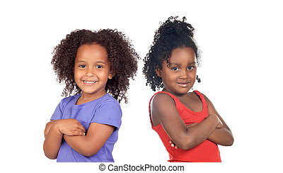 African sisters children