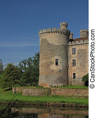 Montbrun Castle, tower, countryside