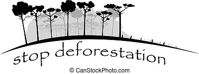 stop felling rain forest - image shows felling rain forest...