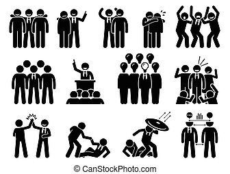 Businessman being a leader. - This businessman has...