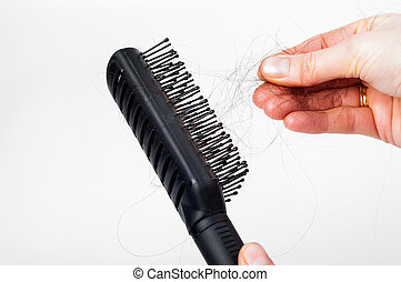 Hair loss - pulling hair out of the plastic hair brush by...