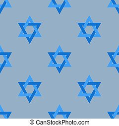 Stars of David Isolated Seamless Pattern - Stars of David...