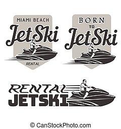 Set of Jet Ski rental, born, logo - Set of Jet Ski rental...