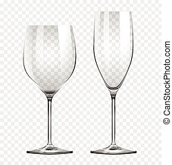 Two types of wine glasses