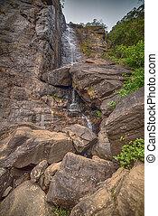 Sri Lanka: waterfall in Nuwara Eliya