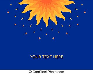 Shining magic sun. Mandala. Banner, cover, card - Shining...