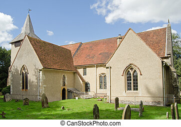 St Mary the Virgin church, Aldermaston, Berkshire -...