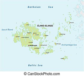 Vector map of the Finnish island group Aland