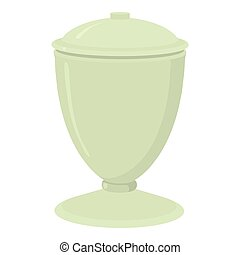 Urn icon, cartoon style - Urn icon. Cartoon illustration of...