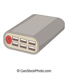 Wi fi router icon, cartoon style - Wi fi router icon....