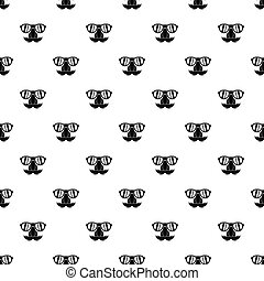 Fake nose mustache, eyebrows, glasses pattern - Comedy fake...