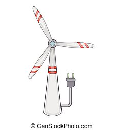 Windmill icon, cartoon style - Windmill icon. Cartoon...