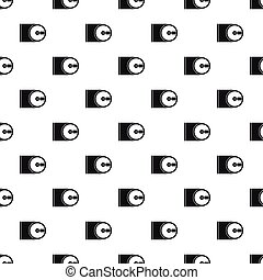 CD pattern, simple style - CD pattern. Simple illustration...