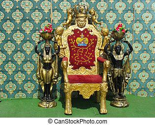 vintage luxury throne chair - golden vintage luxury throne...