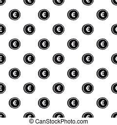 estilo,  simple, patrón, señal, moneda,  Euro