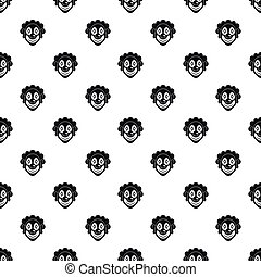 Clown head pattern, simple style - Clown head pattern....