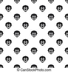 Clown head pattern, simple style - Clown head pattern....