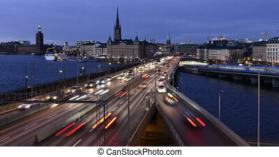 Stockholm, Sweden at night