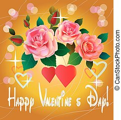 flowers , postcard . valentine's day - Rose the most...