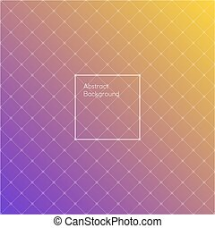 Gradient purple and yellow colored triangle polygon pattern...