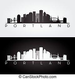 Portland USA skyline