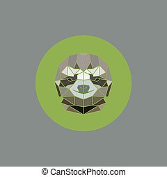 Sloth African Animals Stylized Geometric Head. Vector...
