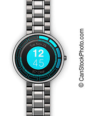 Stainless steel luxury smart watch - Creative abstract...