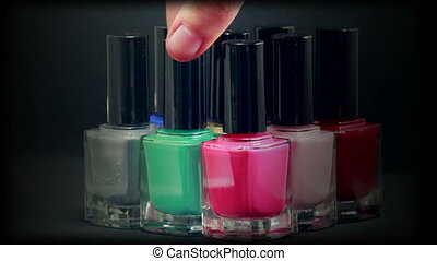 Colorful Nail Polish Bottles - Nail Polish Bottles With...