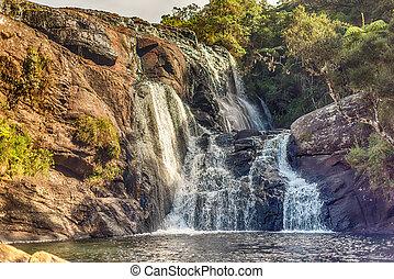 Sri Lanka: Baker's Falls in Horton Plains National Park -...