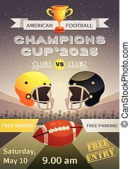 American Football Sport Poster