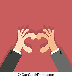 Heart shape made with hands business hand.Concept of...