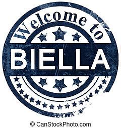 Biella stamp on white background