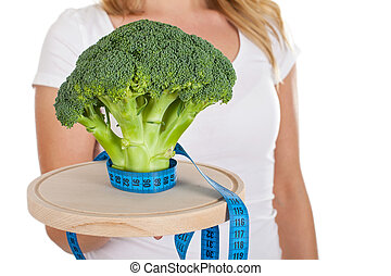 Time to start dieting - Close up picture of a fresh broccoli...