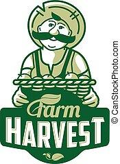Farm logo with a farmer